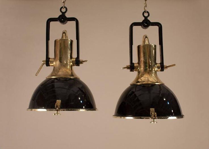 The 25 best midcentury deck lighting ideas on pinterest pair of mid century black enamel and brass ship deck lights mozeypictures Gallery