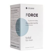 Total for Men - TOTAL MEN is a recommended by Colway International food supplement that takes care of man's body. It is a blend of organic highly-bioavailable vitamins and minerals which ideally complement a daily diet. We have combined carefully selected plant extracts used for the first time in one product.