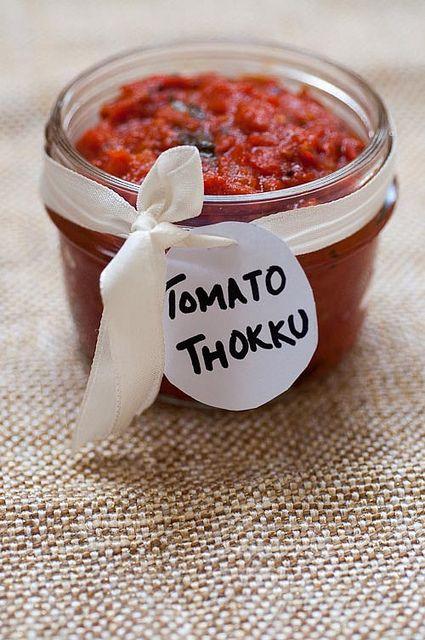 Tomato Thokku Recipe - South Indian style spicy tomato 'chutney' perfect for wraps, rice, and flatbreads