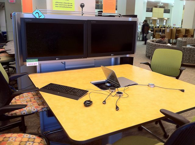 Collaborative learning spaces at the Texas Tech library