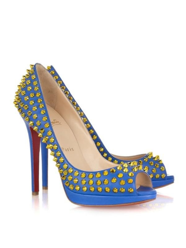 Buy Christian Louboutin Yolanda Spikes Peep Toe Pumps Blue Cheap from  Reliable Christian Louboutin Yolanda Spikes Peep Toe Pumps Blue Cheap  suppliers.