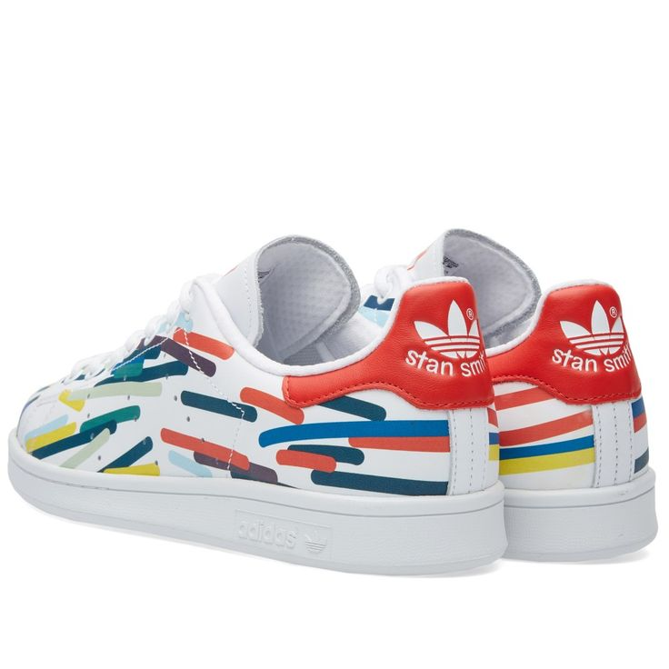ADIDAS STAN SMITH White, Red \u0026 Multi