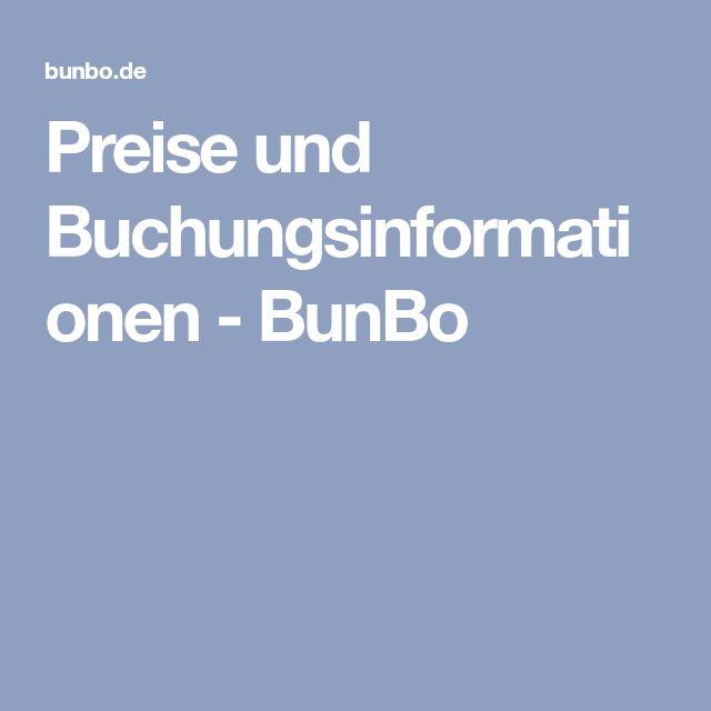Preise und Buchungsinformationen - BunBo