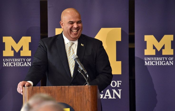 Warde Manuel the new athletic director of University of Michigan wearing a pin from Beliza Design!