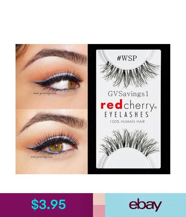 Nib Red Cherry Wsp False Eyelashes Authentic Strip Black Human Hair