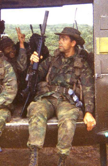 Silencer to a M-16, Rangers in Quang Tri Province - Vietnam War.  #VietnamMemories