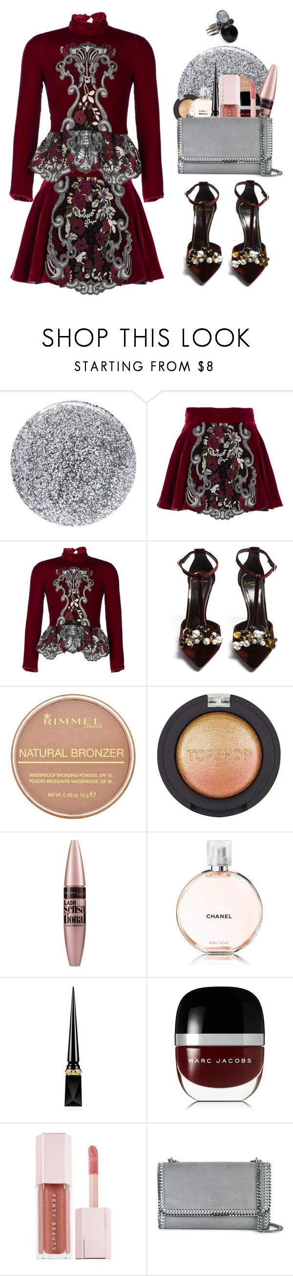 """✨стиль✨"" by taaniia ❤ liked on Polyvore featuring Smith & Cult, Ezgi Cinar, Lanvin, Rimmel, Topshop, Maybelline, Chanel, Christian Louboutin, Marc Jacobs and Puma"