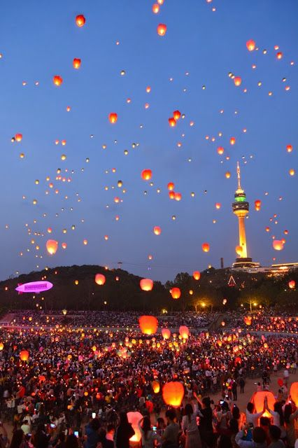 Celebrating Buddha's Birthday - Dalgubeol Lantern Festival in Daegu Korea