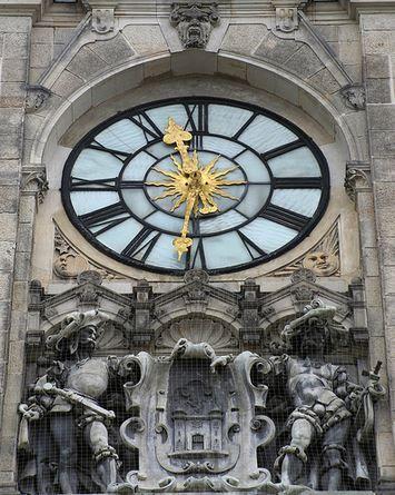 The clock of city hall in Liberec (North Bohemia), Czechia #clock #city…