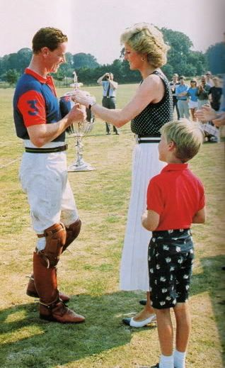 Princess Diana presenting the cup to James Hewitt-- he looks a lot like Harry. Wink. -sb