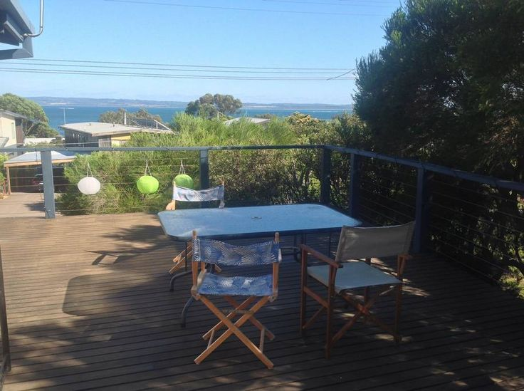 House in Ventnor, Australia. A simple, light and breezy, retro pad with a big deck and lovely north facing bay views. Great for one -  or two (small) -  families. Sleeps 6 comfortably in brand new beds and crisp, professionally laundered linen:   2 night min and great long te...