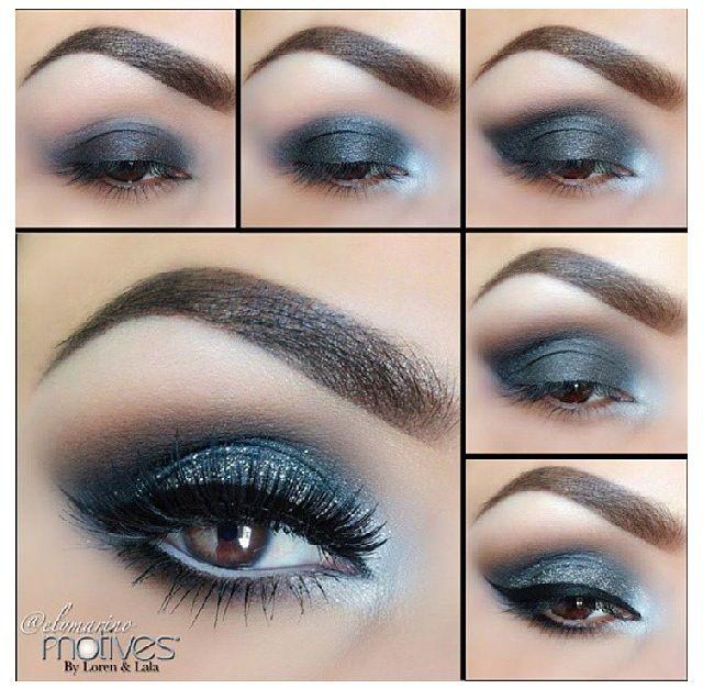 Black and silver eyeshadow