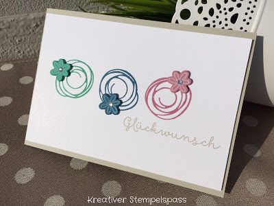 Swirly bird and swirly scribbles dies from Stampin' Up!