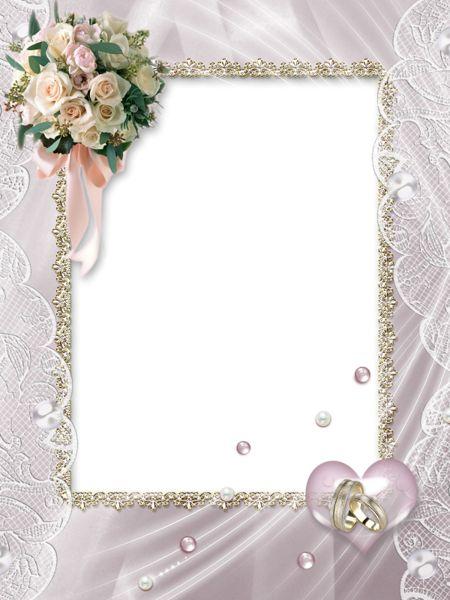 Beautiful Soft Transparent Wedding Photo Frame.