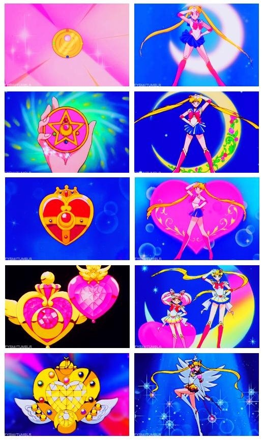 sailor moon's brooches from all 5 seasons 〖 Pretty Guardian Sailor Moon Usagi…