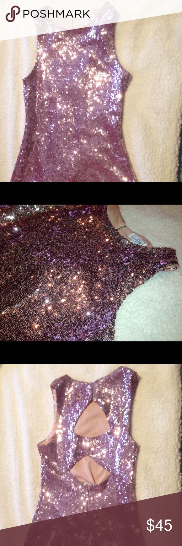 Metallic Sequin Dress 👗 Sleeveless sequin dress. Size: 9  Color: light purple  NEW without tags from Macy's  Self: 90% Nylon 10% Spandex  Lining: 100% Polyester  Feel FREE to make an OFFER‼️ Speechless Dresses Mini
