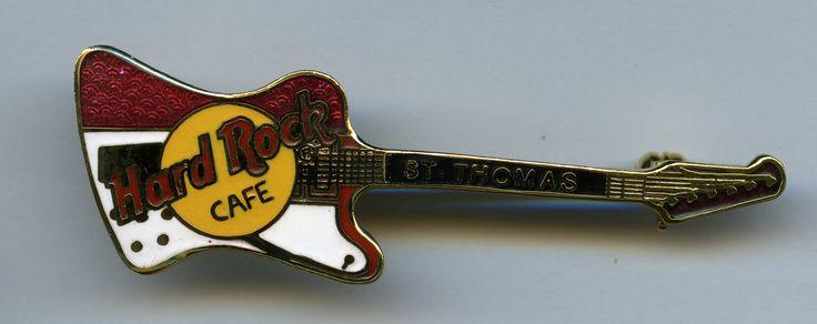 St. Thomas - Hard Rock Cafe Guitar Pin