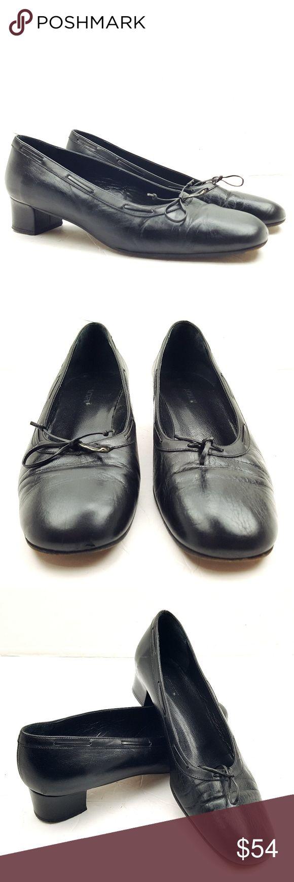 Mujeres de la caja de cuero Loafer Washed Black Size 6 1eQIKHDTO