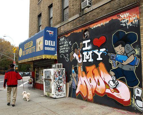 I LOVE MY HOOD Graffiti Mural, Washington Heights, New York City