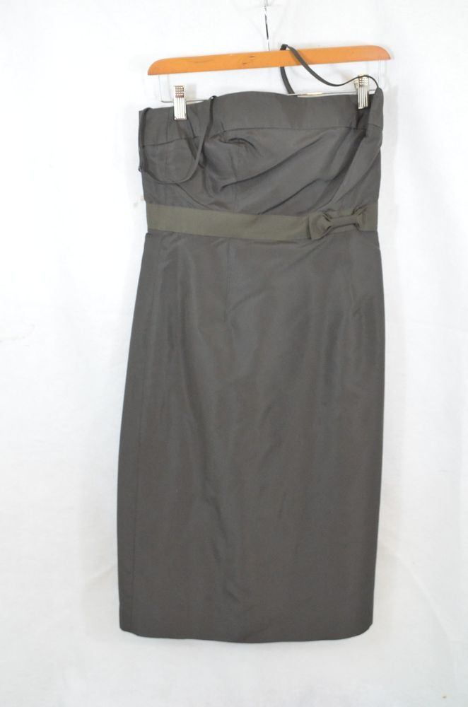 crew womens evening dress brown silk size 4 in clothing shoes