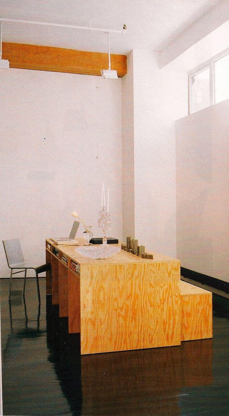 Plywood desk!                                                                                                                                                                                 More