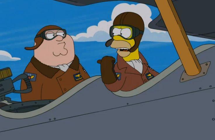 """O encontro de """"Os Simpsons"""" com """"Uma Família da Pesada"""" em novo trailer de episódio especial"""