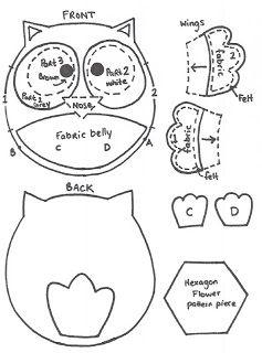 Quirky Artist Loft: Free Pattern - Felt Owl