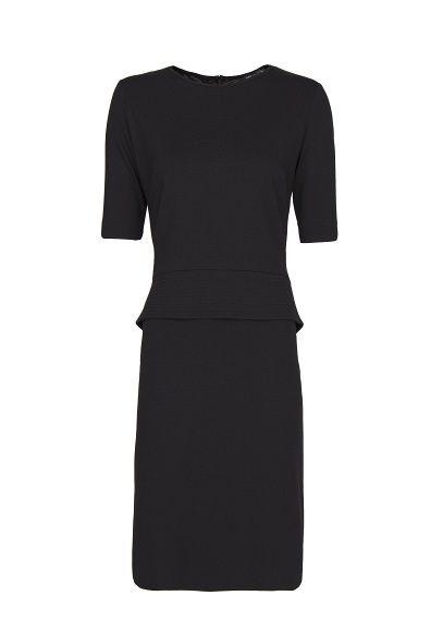 MANGO - Contrasted peplum dress