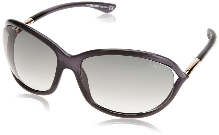 Tom Ford Jennifer Transparent Frame Sunglasses (TF0008 B5), Purple Grey Gradient. #NAME?. -Measurements: 61-16-120.