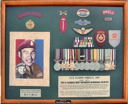 SGT. TOMMY PRINCE, MM (1915 - 1977) One of Canada's most decorated Aboriginal Soldier