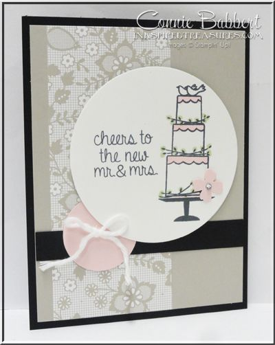 Love this new wedding set, Your Perfect Day, wedding, Something Borrowed, Stampin' Up!, #stampinup, Connie Babbert, www.inkspiredtreasures.com