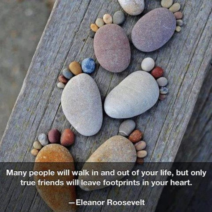 "Love this ""sculpture"" and love the quote!: Rock Feet, Ideas, Craft, Art, Footprint, Stones, Garden, Rocks"