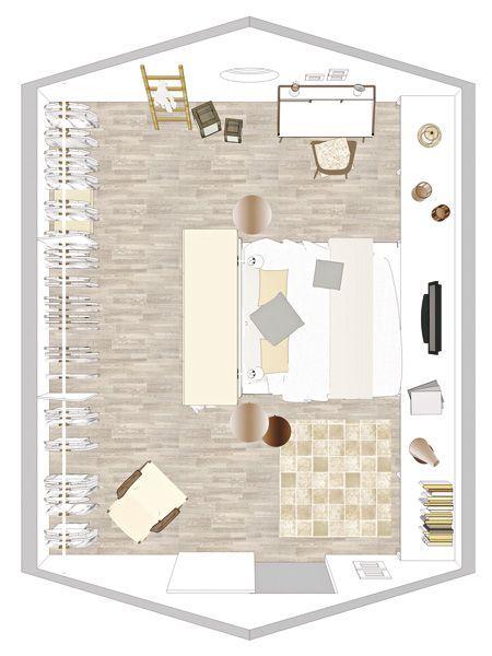 Wir verwandeln eine schlichte Dachkammer mit vielen Schrägen in ein gemütliches Schlafzimmer mit großzügiger Ankleide und jeder Menge Platz!