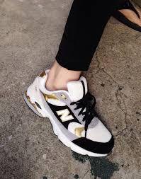 new balance preto dourado e branco sapatilhas /sneakers