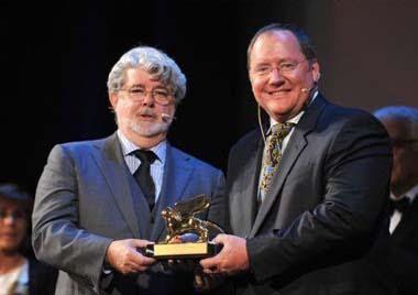 #unfakedialberto interviews John Lasseter, the Pixar Founder at Venezia Film Festival