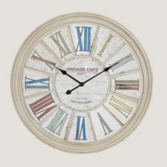 Horloge d coration cuisine bistrot horloges for Deco cuisine horloge