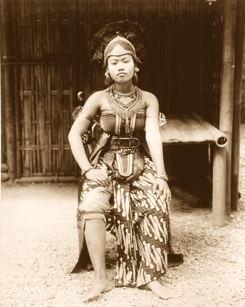 Indonesia, Java. Javanese dancer, Paris Expo, 1889