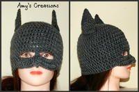 Batman Hat- actual free pattern here