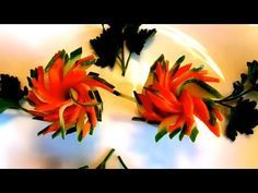 Art in carrot rose flower Garnish | How To Make Vegetable Carving & Decoration - YouTube