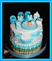Торт с младенцем, пинетками