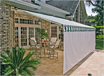 we have 2 sunsetters one similar to this the other is fully enclosed for veranda ideassunroom ideaspatio - Awning Ideas For Patios