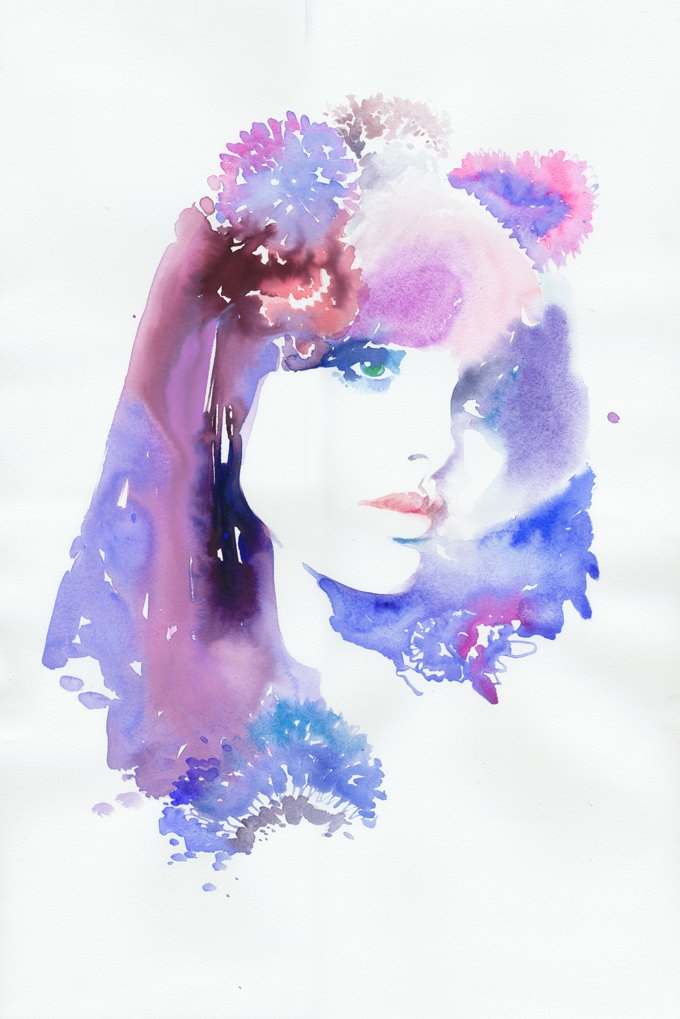 Watercolor Fashion Illustration, Original Watercolor Painting,