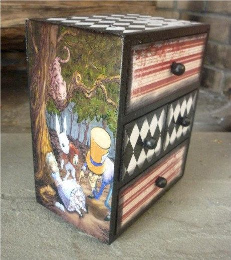 Alice in Wonderland Box by DaintyCreations on Etsy, $75.00
