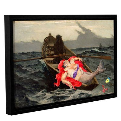 east urban home catch of the day framed painting print on canvas size