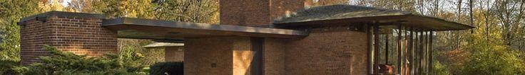 Frank Lloyd Wright's Haynes House, Usonian design. Near to Fort Wayne, Indiana.
