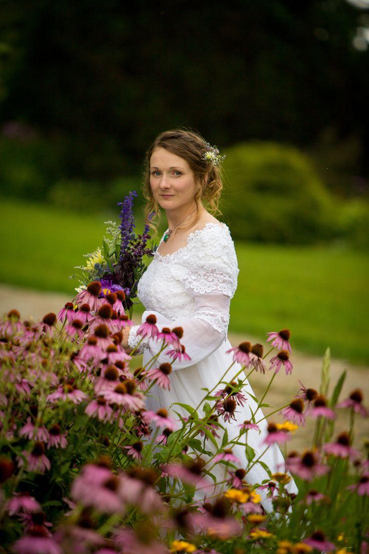 Boho Outdoor Wedding, Durham, Ontario, Labyrinth, Camping Wedding, Retro Wedding Dress, Ontario Wedding, Riverstone Retreat