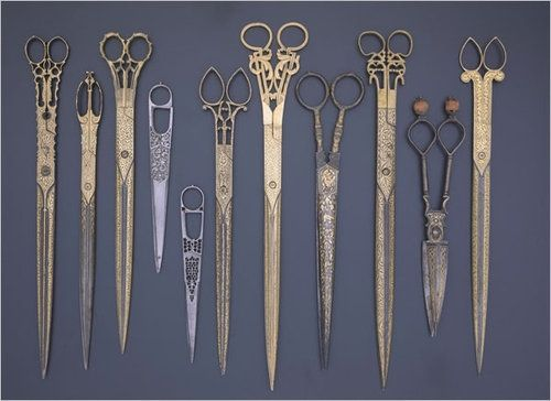Engraved and Inlaid Scissors.