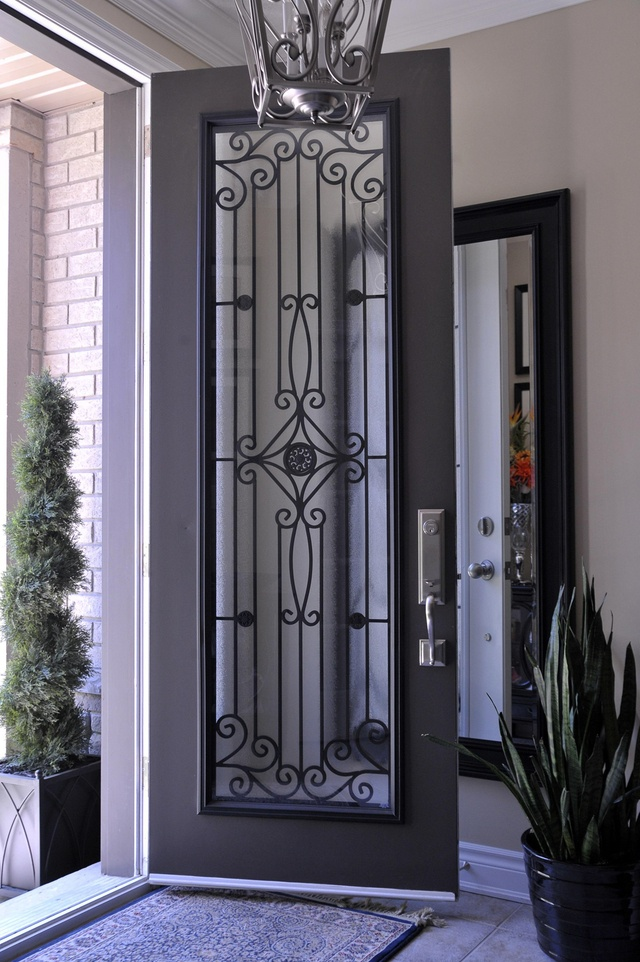 Glass Insert For Front Door Too Revealing It 39 S Still Beautiful Front Doors Pinterest