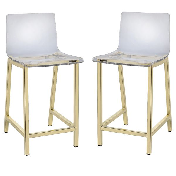 Pure Decor Clear Acrylic Counter Stool - Set of 2 - Overstock Shopping - Great Deals on Bar Stools