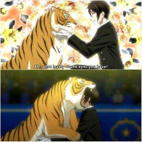Black Butler Book of Circus Sebastian, great seen lol his love of cats amazes me